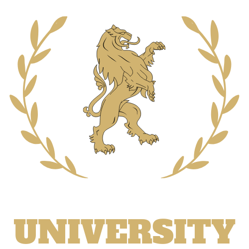 Relentless University Logo White